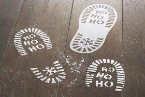 Santa footprints christmas traditions