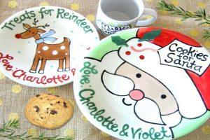 Santa plates christmas traditions