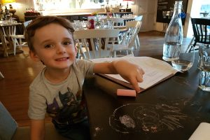 Bel and the dragon cookham scribble table eating out with kids berkshire
