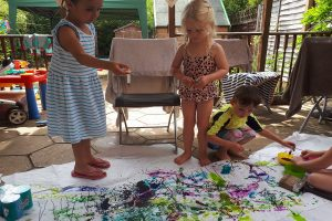 Squidgydoodle pirate party box review squirt painting